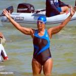 Diana Nyad, 64, successful on her fifth attempt to swim from Cuba to Florida.